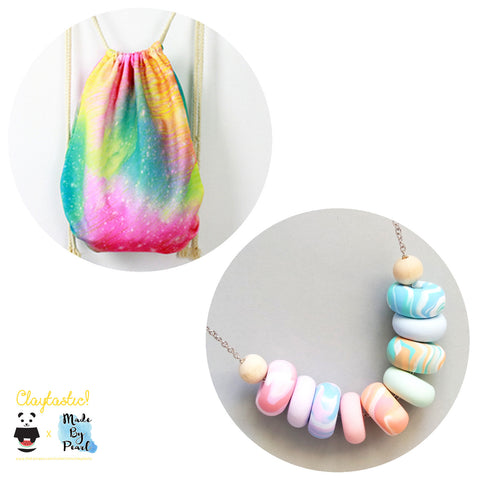 Paddlepop Swirl Bundle: Sparkles (Bag + Necklace)