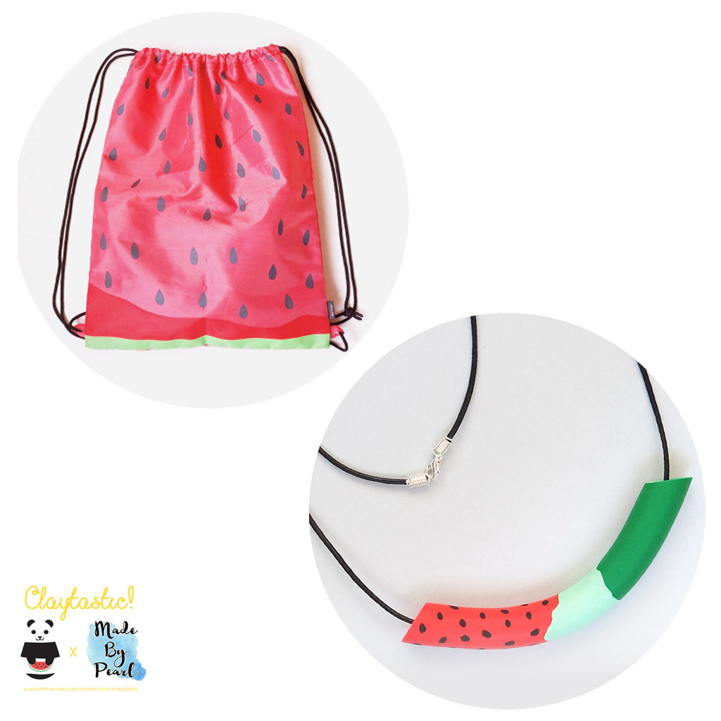 Jolly Watermelon Bundle: Summer Watermelon (Bag + Necklace)