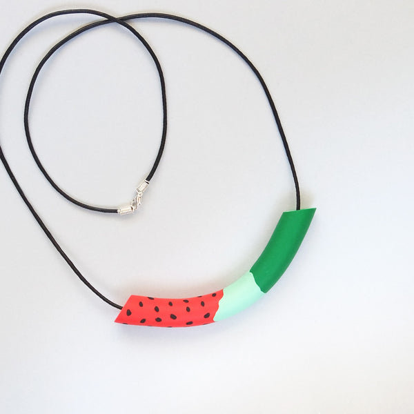 Jolly Watermelon Bundle: Summer Watermelon (Bag + Necklace) - The Twinees