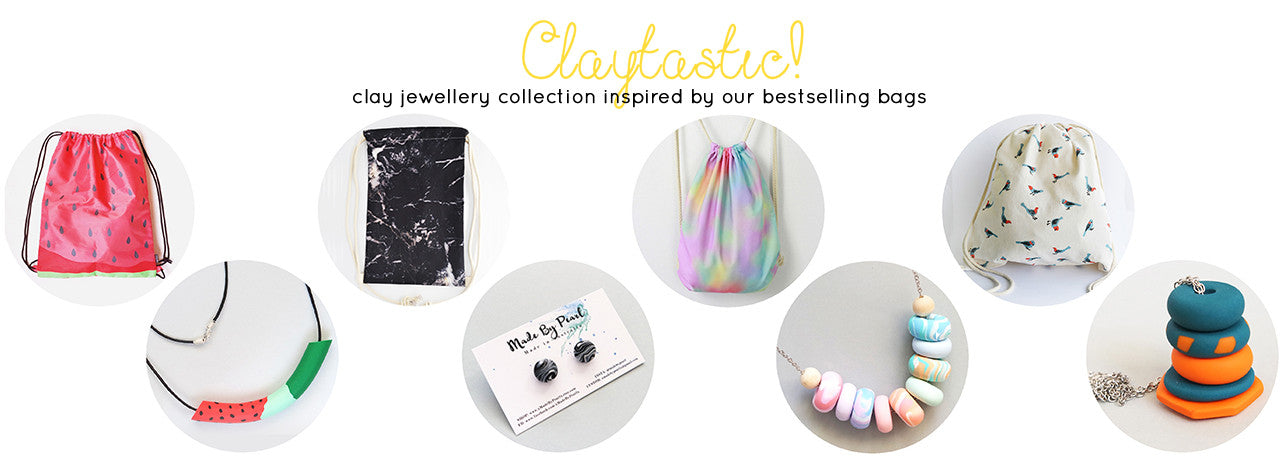 claytastic clay jewellery bag collection
