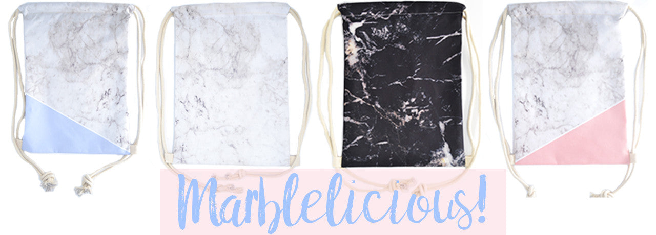 marblelicious twinees drawstring marble bags