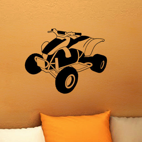 Wall Decor Art Vinyl Sticker Mural Decal Quad 4 Wheeler Atv Dirt Poster Sa679 Ebay