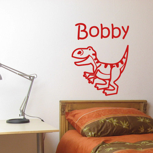 ... Baby Dino Personalized Vinyl Decal Wall Decor Art Sticker