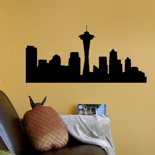 Seattle Skyline Vinyl Decal Wall Decor Art Sticker – KisCus