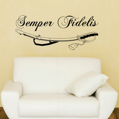 Semper Fidelis Vinyl Decor Decal Wall Art Sticker – KisCus