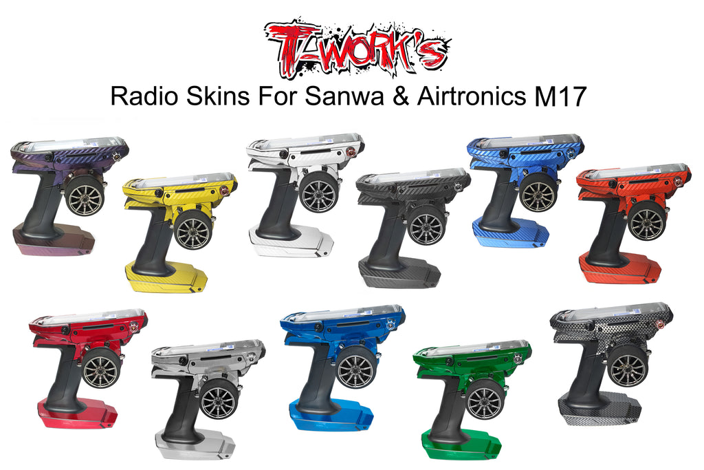 TS-044M  Mirror Chrome Radio Skin Sticker For Sanwa & Airtronics M17 4colors