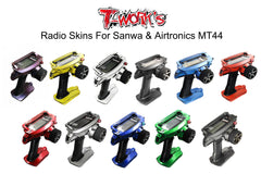 TS-042M Mirror Chrome Radio Skin Sticker For Sanwa & Airtronics MT44 4colors