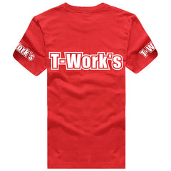 AP-001-R  Team T-Work's T-Shirt Red Color ( White logo )