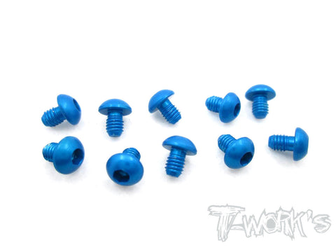 ASS-304BB 7075-T6 Hex. Socket Button Head Screw(Blue)  3x4mm 10pcs.