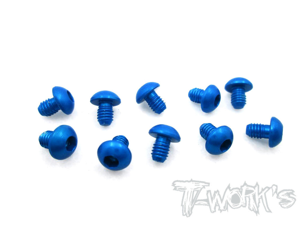 ASS-304BDB 7075-T6 Hex. Socket Button Head Screw(Dark Blue)  3x4mm 10pcs.