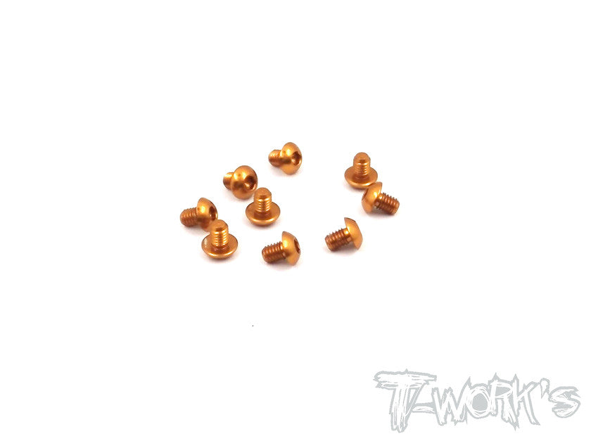 ASS-304BO 7075-T6 Hex. Socket Button Head Screw(Orange)  3x4mm 10pcs.