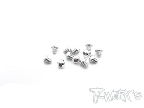 ASS-304BS 7075-T6 Hex. Socket Button Head Screw(Silver)  3x4mm 12pcs.