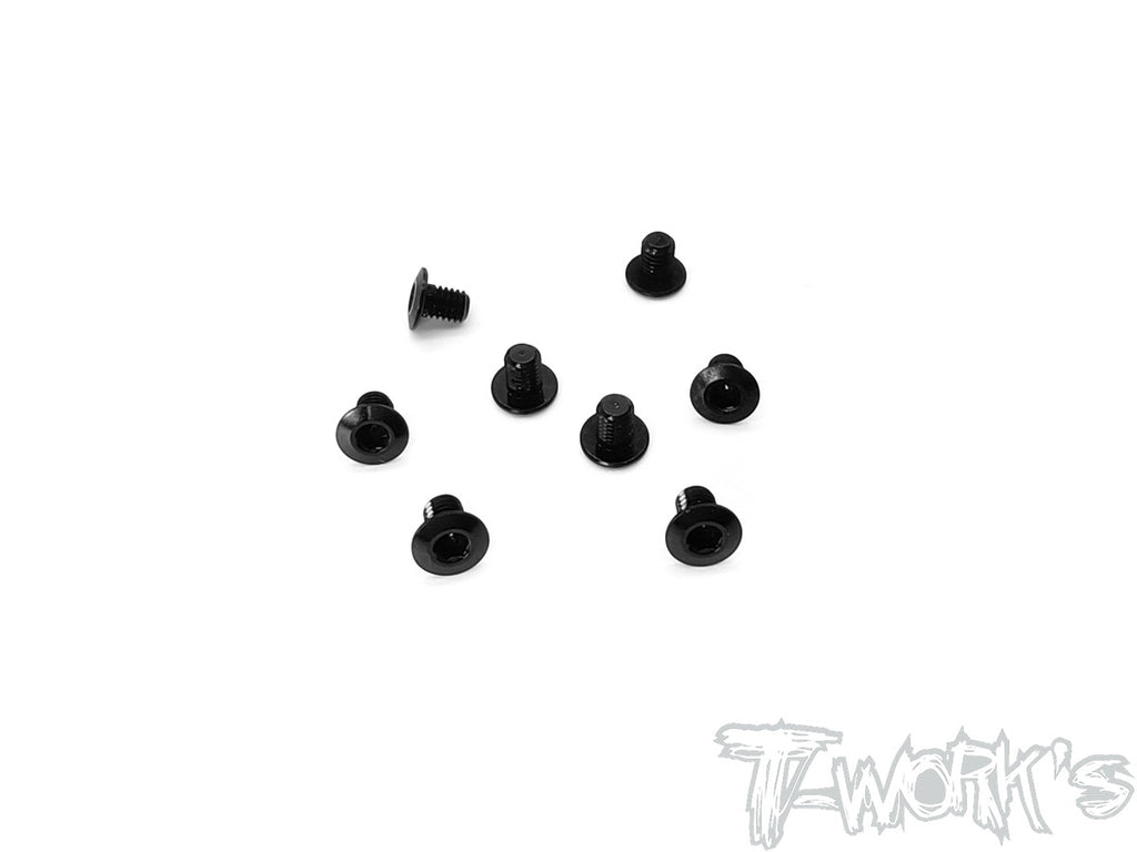 ASS-3LPBK 7075-T6 Hex. Socket Head Low Profile Half Thread Screws ( Black ) 8pcs.