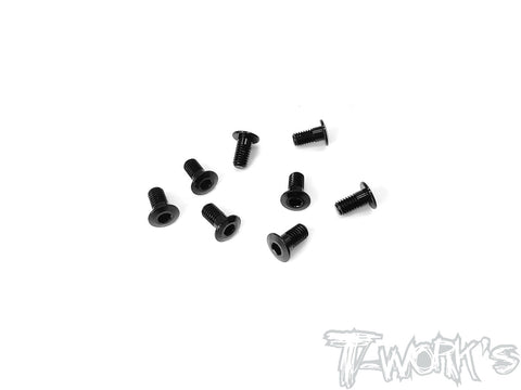 ASS-306LPBK	7075-T6 Hex. Socket Head Low Profile Half Thread Screws ( Black )    3mm x 6mm 8pcs.
