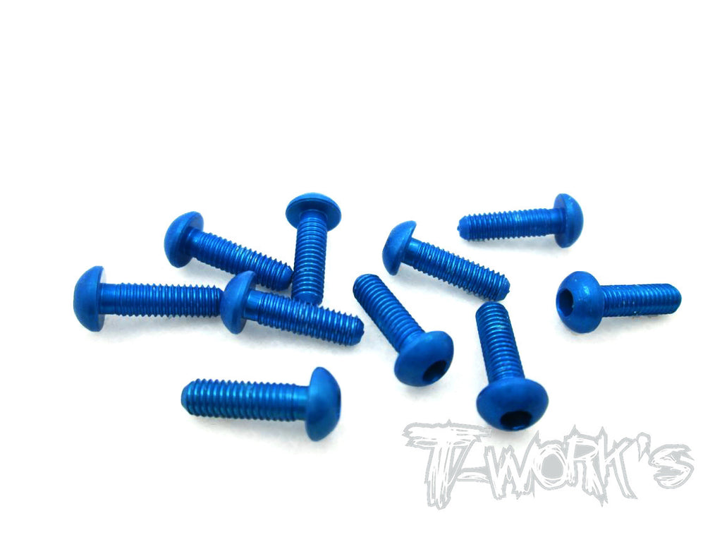 ASS-310BDB 7075-T6 Hex. Socket Button Head Screw(Dark Blue)  3x10mm 10pcs.