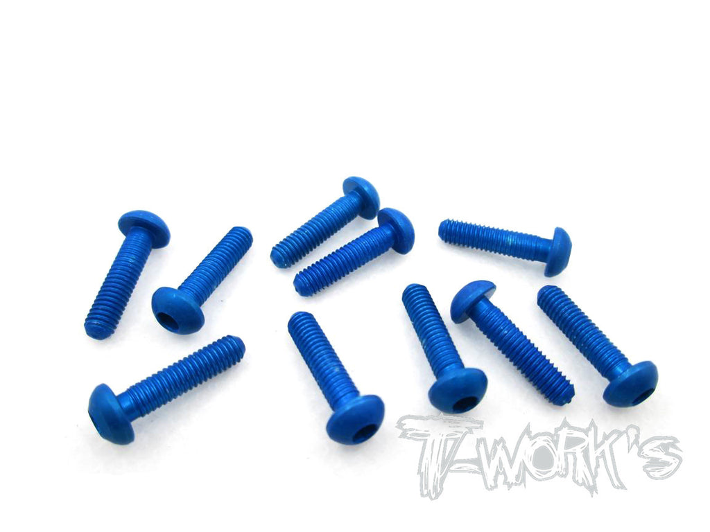 ASS-312BDB 7075-T6 Hex. Socket Button Head Screw(Dark Blue)  3x12mm 10pcs.