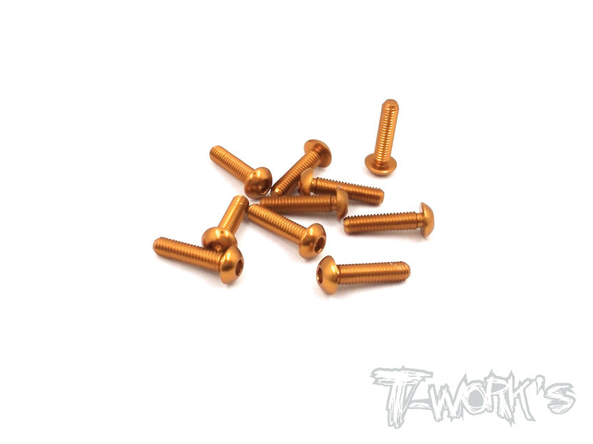 ASS-312BO 7075-T6 Hex. Socket Button Head Screw(Orange)  3x12mm 10pcs.