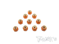 ASS-3LN Aluminium Lock Nuts 3mm 10pcs.