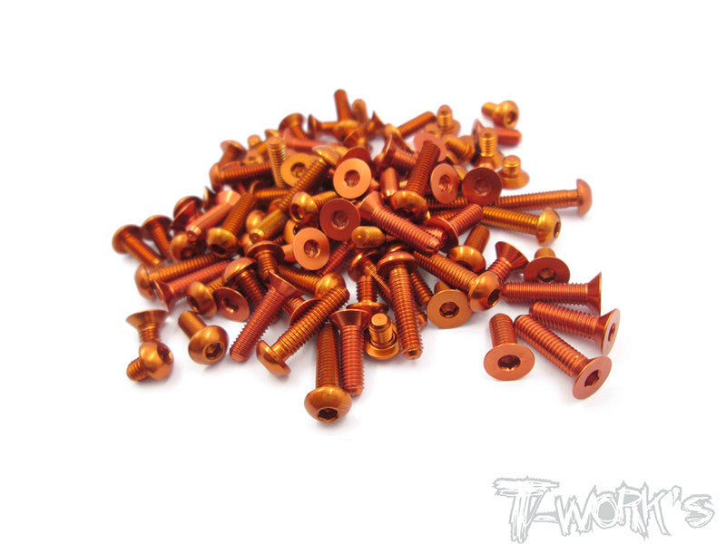 ASS-T4/15-O 7075-T6 Orange Screw set 106pcs. For Xray T4 2015