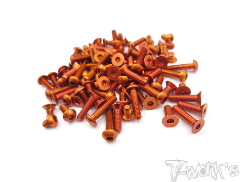 ASS-T4-19 7075-T6 Orange Screw set 104pcs.(For Xray T4 2019)