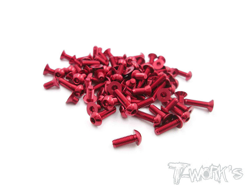 ASS-FXM-R  7075-T6 Red Screw set 58pcs.(For VBC Lightning FXM)
