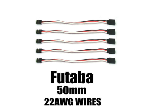 EA-002-5  Futaba Extension with 22 AWG heavy wires 50mm 5pcs.