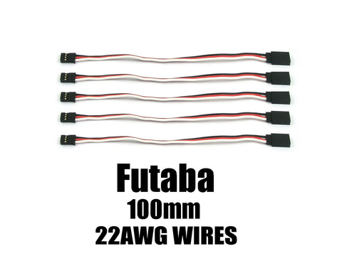 EA-003-5 Futaba Extension with 22 AWG heavy wires 100mm 5pcs.