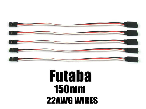 EA-004-5 Futaba Extension with 22 AWG heavy wires 150mm 5pcs.