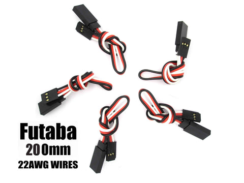 EA-005-5 Futaba Extension with 22 AWG heavy wires 200mm 5pcs.