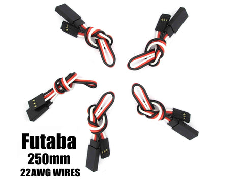 EA-006-5 Futaba Extension with 22 AWG heavy wires 250mm 5pcs.