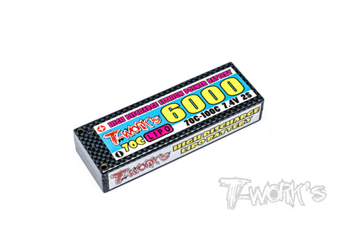 EA-020 High Discharge 6000 mah Lipo Battery 7.4V 70C