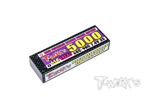 EA-021 High Discharge 5000 mah Lipo Battery 7.4V 65C