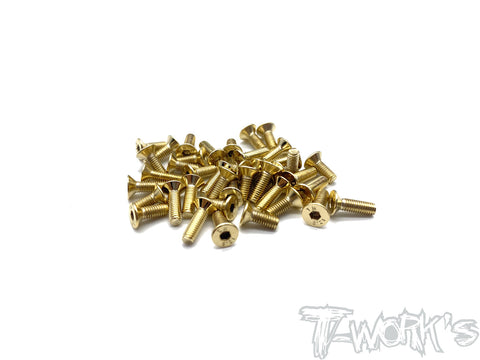 GSS-BD10LC-B Gold Plated Steel Screw Set( Bottom )45pcs.( For Yokomo BD10 LC )