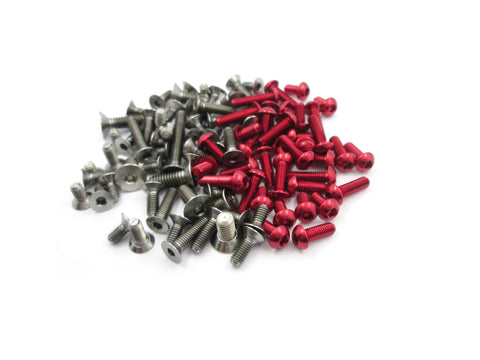 TASS-12M 64 Titanium & 7075-T6 Red Screw set For VBC Lightning 12M
