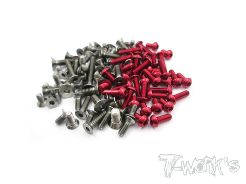TASS-F116 64 Titanium &7075-T6 Screw set For Rapide F1 2016