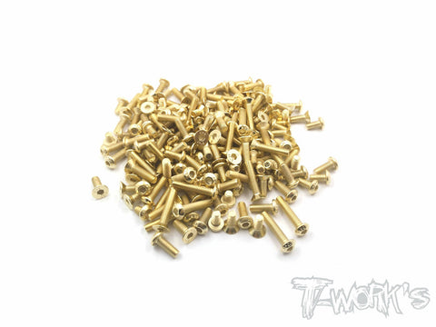 GSS-XB2C'19  Gold Plated Steel Screw Set 141pcs.( For Xray XB2C 2019)
