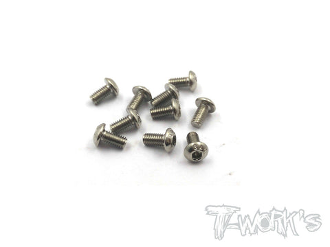 NSS-306B 3mmx6mm Nickel Plated Button Head Screw(10pcs.)