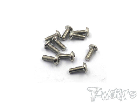 NSS-308B 3mmx8mm Nickel Plated Button Head Screw(10pcs.)