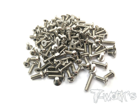 NSS-R12 Nickel Plated Screws Set 44pcs. (Yokomo R12)