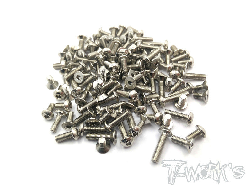NSS-TA05 Nickel Plated Screws Set 97pcs. ( For Tamiya TA-05)
