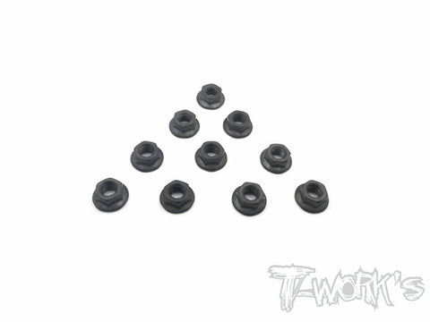 SS-4SN Serrated M4 Wheel Nuts ( 10pcs.)