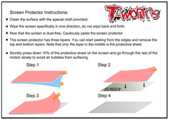 TA-085-M12  Screen Protector For Sanwa & Airtronics M12