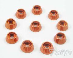 TA-003 Anodized Aluminum M3 Hex. Socket Cap Washer (10 pcs)