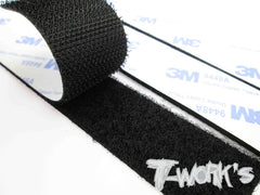 TA-076 Black Adhesive Velcro Tape 25mm x 150mm (3pcs.)