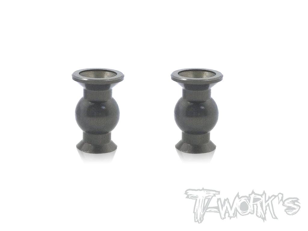 TO-104-E  7075-T6 Hard Coated Alum.7mm Steering Pivot Ball With Backstop   ( For  Hong Nor & OFNA X3/X3E Sabre,IGT8) 2pcs.