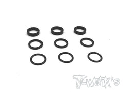 TA-111 Alum. 7075-T6 6.38mm Bore Washer 0.5 , 1, 2mm Each 3pcs.