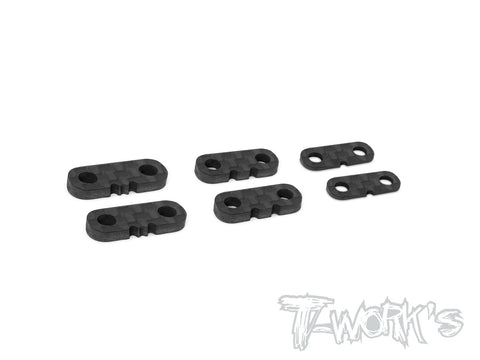 TA-125 Graphite Servo Mount Spacer Set ( 1.0 , 2.0 , 2.5mm Each 2pcs. )