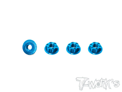 TA-126 7075-T6 Light Weight Low Profile Serrated M4 Wheel Nuts (4pcs)