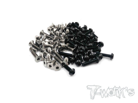 TASS-BD8-BK  64 Titanium &7075-T6 Black Screw set 83pcs.( For Yokomo BD8  )