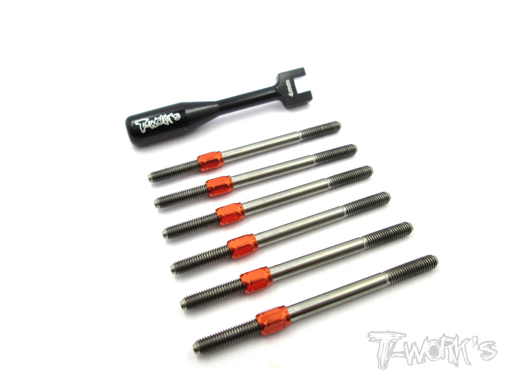 TB-060H Hybrid Titanium Turnbuckle Set For Serpent Spyder SRX-2 RM